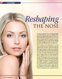 Living Magazine article, Doctor Yadro Ducic explains rhinoplasty and reshaping the nose.