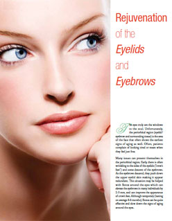 Living Magazine article, Doctor Ducic explaining blepharoplasty eye surgery.