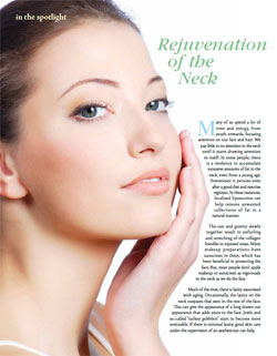 Living Magazine article, Dr Yadro Ducic explains neck plastic surgery options.