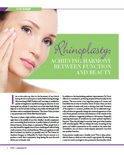 Living Magazine article, Doctor Yadro Ducic on rhinoplasty and facial balance.