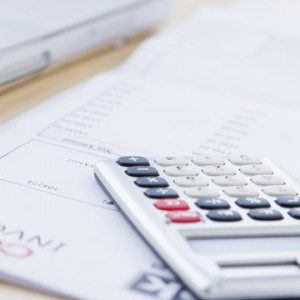 Calculator on financial forms