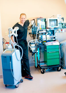 Dr.  Hammond with his equipment