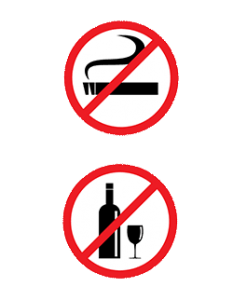 No drinking, no smoking sign
