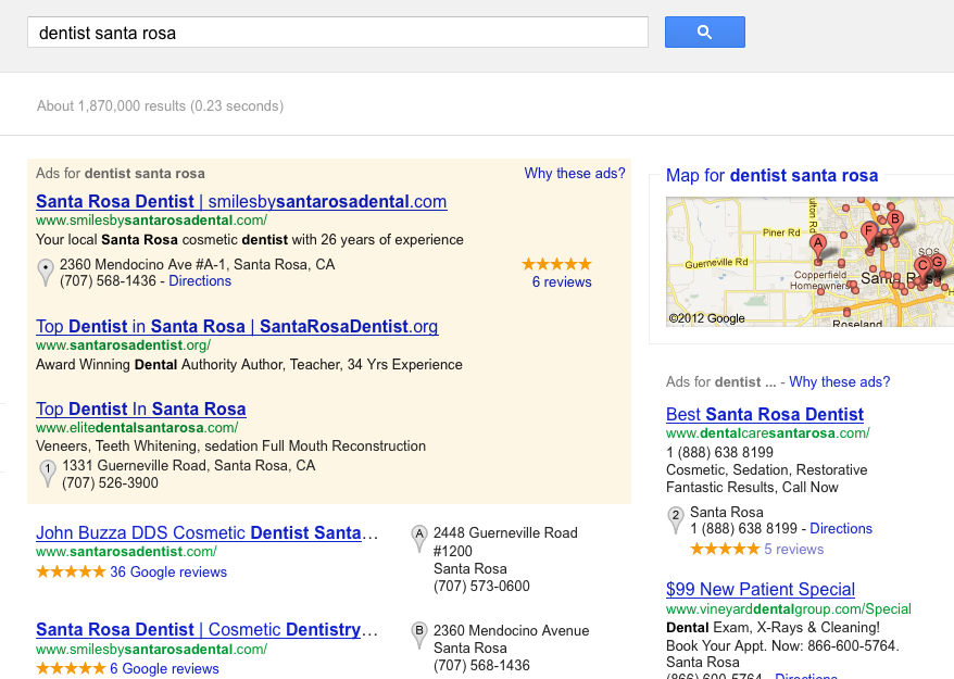 Personalized Search Results for Dental Website Design