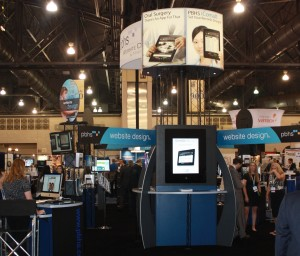 Booth at 2011 AAOMS meeting for PBHS, Dental Website Design